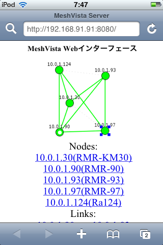 MeshVista Web Interface